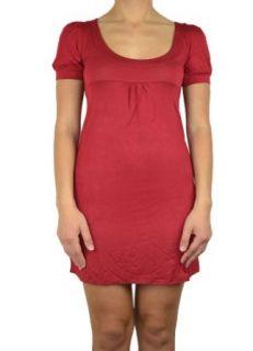 143Fashion Women's 1/4 Sleeve Round Neck Dress: Clothing