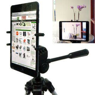 "ChargerCity Exclusive Apple iPad Mini Google Nexus 7 FHD Samsung Galaxy Tab 2 3 4  Kindle Fire 7 HD HDX 7""inch Tablet Tripod MonoPod Video Recording Camera Adapter Mount with 1/4 20 Thread Adapter & 360 Degrees Angle Adjustment Holder (IPAD MINI &"