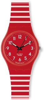 Swatch Women's Originals GR154I Red Plastic Quartz Watch with Red Dial Swatch Watches