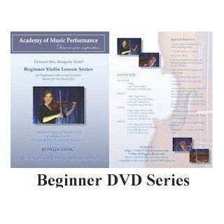 Violin Lessons   AMP   Beginner Violin Lessons on DVD with Music Book Written for a Learning Violinist and Fingering Charts, 100% Satisfaction Guarantee 152: Mrs. Bridgette Seidel: Movies & TV