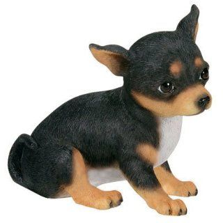 CHIHUAHUA Dog Black/Tan MINIATURE Figurine Porcelain NORTHERN ROSE R153B   Collectible Figurines