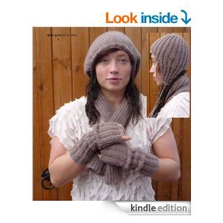 Ladies Hat, Wrist Warmers & Scarf Knitting Pattern 155 UK eBook ShiFio's Patterns Kindle Store