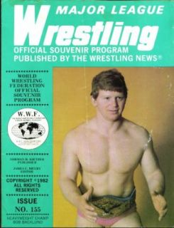MAJOR LEAGUE WRESTLING #155 Bob Backlund official souvenir program 1982: Collectibles & Fine Art