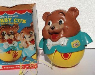 Vintage FISHER PRICE No. 164 Roll a long MUSICAL Bear Pull Toy CHUBBY CUB with ORIGINAL BOX (1969) Toys & Games