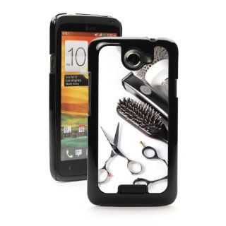 HTC One X Black Hard Back Case Cover PB171 Color Scissors Comb Brush Hair Dresser: Cell Phones & Accessories