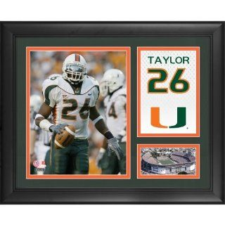 "Sean Taylor Miami Hurricanes Framed 15"" x 17"" Campus Legend Collage : Sports Fan Apparel : Sports & Outdoors"