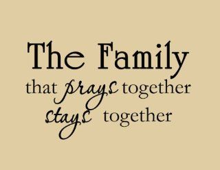The Family that Prays Together Stays Together Christian Religious Vinyl Wall Art Decal Quote Home Decor: Home Improvement