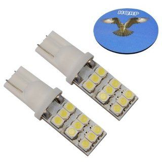 HQRP 2 pack T10 #194 #168 W5W Wedge Base 9 LEDs SMD LED Back Up Reverse Light Bulbs Warm White plus HQRP Coaster: Automotive