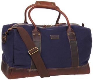 Cole Haan Hermitage Duffel A11159 Weekender,Navy Canvas/Woodbury,One Size Shoes