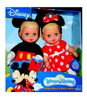 Disney Mickey and Minnie Mouse Water Babies Doll Set Lauer Baby Dolls Toy Toys & Games