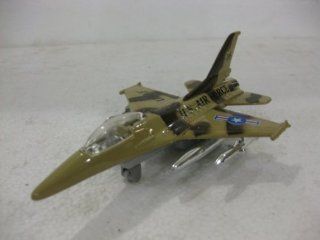 F 16 Sky Fighter In Brown Camo Diecast 1:144 Scale By Gingell: Toys & Games