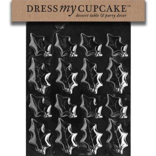 Dress My Cupcake DMCC178SET Chocolate Candy Mold, Holly Leaves Size 2, Set of 6: Kitchen & Dining