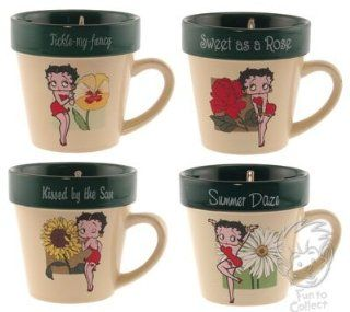Betty Boop Garden Seed Packet Flower Pot Mug Set: Kitchen & Dining