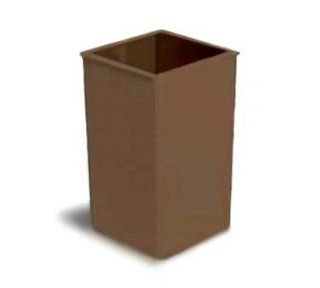 Continental Commercial 25 BN 25 Gal Square Trash Can, 5735 Series, Brown, Pack of 4: Kitchen & Dining