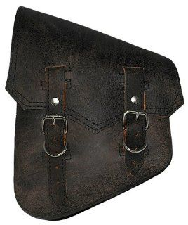 La Rosa Harley Davidson Softail & Rigid Vintage Style Rustic Black Leather Left Swing Arm Saddlebag: Everything Else