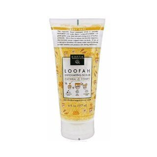 Earth Therapeutics Loofah Exfoliating Scrub, Oatmeal & Honey, 6 Fluid Ounce (177 ml) : Body Scrubs : Beauty