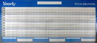 AT A GLANCE Visual Organizer Horizontal Erasable Wall Planner, Jumbo Wall, Blue, 2012 (A177): Office Products