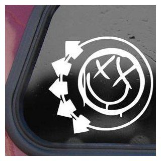 Blink 182 Logo White Decal Sticker Wall Laptop Notebook Die cut White Decal Sticker Automotive