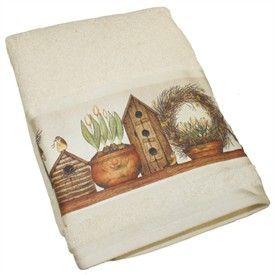 Linda Spivey Garden Angel Bath Towel