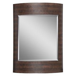 Ren Wil Dark Brown Striped Wall Mirror   32W x 44H in.   Wall Mirrors
