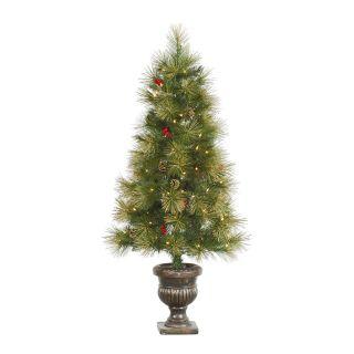 Vickerman 4.5 ft. Gold Glitter Pine Pre Lit Christmas Tree   Christmas Trees