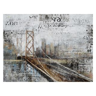 Yosemite Home Decor Across The Bridge Wall Art   47.2W x 35.5H in.   Hand Painted Art