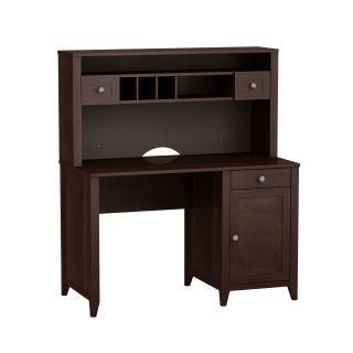 kathy ireland Office by Bush Furniture Grand Expressions 48 in. Single Pedestal Desk with Hutch   Computer Desks