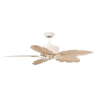 Ellington PAP52MWW5RCDI Pineapple 52 in. Outdoor Ceiling Fan   Matte White   Outdoor Ceiling Fans