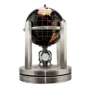 Black Gemstone 5.9 in. diam. Clock Stand Desktop Globe   Gemstone Globes