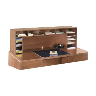 Safco 58 in. Wide High Clearance Desktop Organizer   Oak   Office Desk Accessories