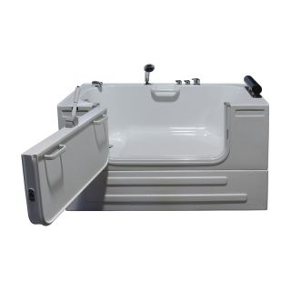 Steam Planet Northeastern Bath HY1342 59 in. Sit In Bathtub with 3 ft. Outward Opening Door   Bathtubs