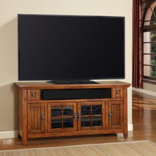 Parker House Terrace 62 in. TV Console   Antique Vintage Oak   TV Stands