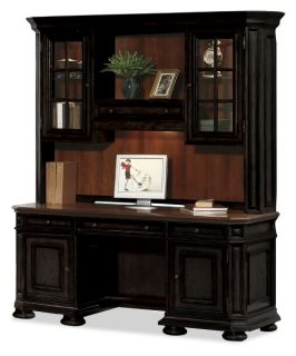 Riverside Allegro Credenza Computer Desk with Optional Hutch   Computer Desks