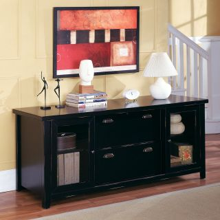 kathy ireland Home by Martin TL687 Tribeca Loft Black Storage Credenza   Console Tables