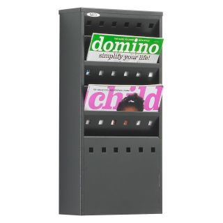 Safco 4310BL 5 Pocket Steel Magazine Rack   Commercial Magazine Racks