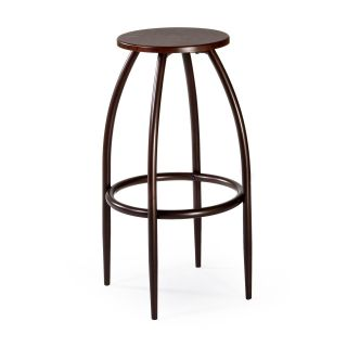Hillsdale Bowen Backless Adjustable Bar Stool with Nested Leg   Walnut   Bar Stools
