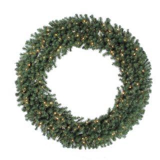 84 in. Douglas Fir Pre lit Christmas Wreath   Christmas Wreaths