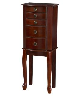 Petite Queen Anne Jewelry Armoire   Cherry   Jewelry Armoires