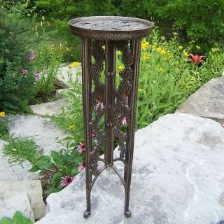 Oakland Living Interlock Plant Stand Grape   Antique Bronze   Plant Stands