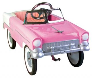 55 Classic Pink Convertible Pedal Car   Pedal Toys