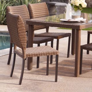 Coral Coast Maya All Weather Wicker Patio Dining Chair   Set of 2   Chairs