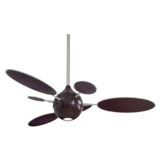 Minka Aire F596 MG/BN Cirque 54 in. Indoor Ceiling Fan   Mahogany with Brushed Nickel   Ceiling Fans
