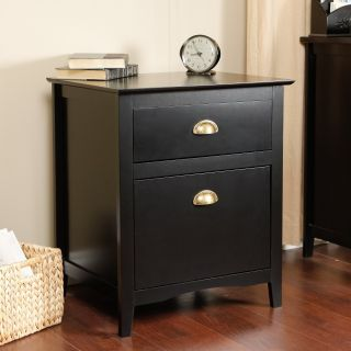 Pearce Black Filing Cabinet   File Cabinets