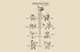 Eeveelution Chart   BustedTees