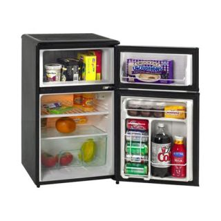 Avanti RA304BT 1 3.1 cu. ft. Two Door Counterhigh Refrigerator   Black   Small Refrigerators