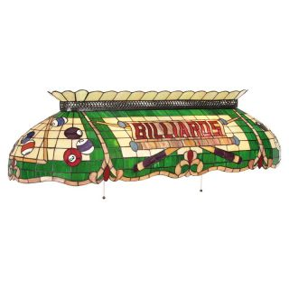 Tiffany Billiards Light 50W Inch Green   Billiard Lights