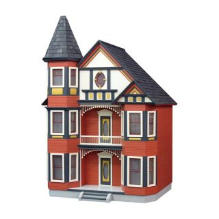 Real Good Toys Painted Lady Dollhouse Kit   1 Inch Scale   Collector Dollhouse Kits