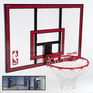 Spalding 44 Inch Polycarbonate Backboard Combo with Mounting Bracket   In Ground Hoops