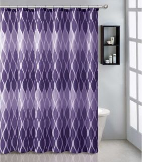 Victoria Classics Jansen Printed Shower Curtain with Hooks   13 pc. Set   Shower Curtains