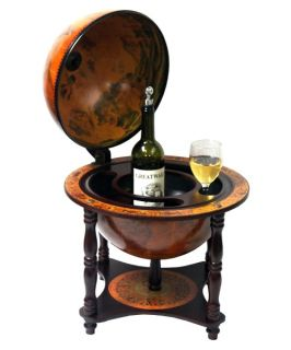 Turin Italian Style 16.5 in. Diam. Tabletop Legged Globe Bar   Home Bars